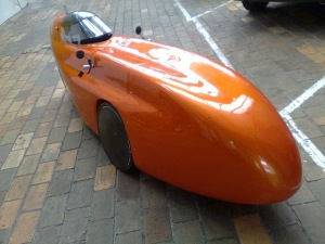Orange WAW velomobile